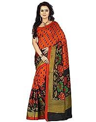 Buyonn Women's Cotton Silk Saree (OFS1668-SARI_Multi-Coloured_Free Size)