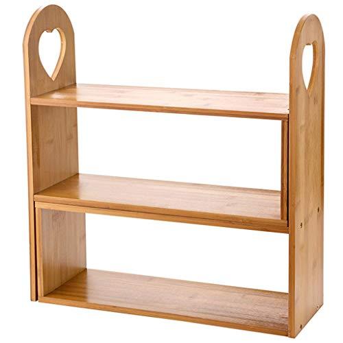 Rack da cucina - portaspezie, ripiano da appoggio in legno massello, liberamente deformabile, a tre piani