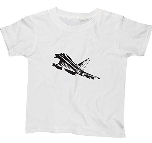 Hippowarehouse Fighter Jet Kids Kinder Short Sleeve T-Shirt Gr. 13 Jahre, weiß (Weißes Fluggesellschaften, T-shirt)