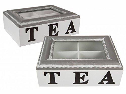 OOTB Teebox, Holz, Weiß, 20 x 15 x 7 cm