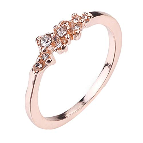 9 Diamanten Frauen Ring Braut Ring Ehering Geburtstagsgeschenke YunYoud frauen freundschaftsringe doppelring offene verlobungsringe preiswerte damenringe moderne silberringe