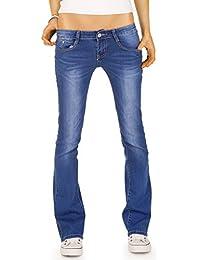 Bestyledberlin Damen Jeans Hosen, Bootcut Hüftjeans j80e