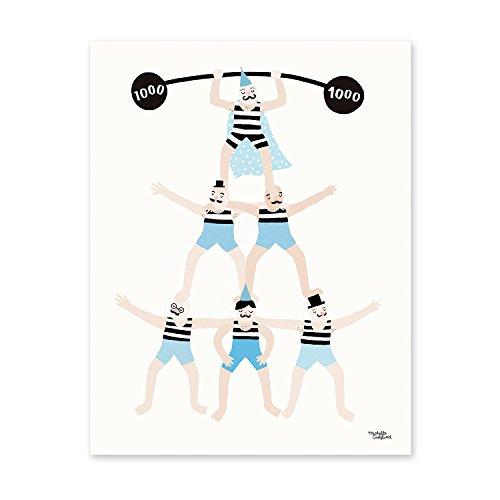 michelle-carlslund-illustration-246-acrobats-poster-papier-stein-beige-30-x-01-x-40-cm