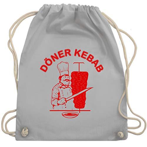Statement Shirts - Original Döner Kebab Logo - Unisize - Hellgrau - WM110 - Turnbeutel & Gym Bag