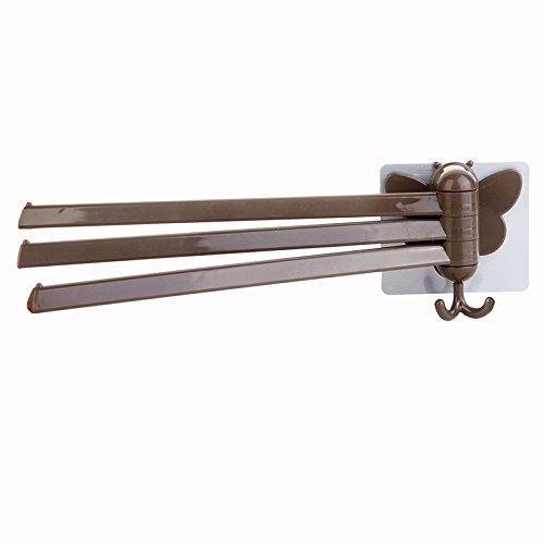 Küchenrollenhalter Multifunktionaler perforationsfreier Handtuchhalter Küchenbadetuch mit Mehreren Stangen zum Aufhängen von Handtuchhalter Toilettenpapierhandtuchhalter aus Papier -