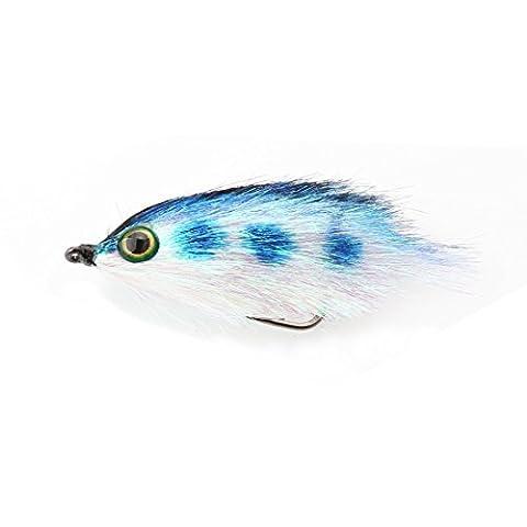 A-szcxtop Aspect mouches Leurres de pêche réaliste avec yeux 3d, wet mouches Pêche appâts avec des basses puissantes Crochets, Saumon Trouts Pêche à la mouche mouches 5.5cm