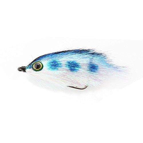 A-szcxtop Fliegen Angeln lockt lebensechte Optik mit 3D-Augen, Wet Fliegen Angeln Köder mit starken Haken, Bass lachs trouts Fliegenfischen Fliegen, 5,5cm