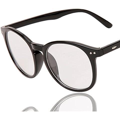ZWX Vetro trasparente/Cerchi di grande moda vintage (Vetro Occhiali)