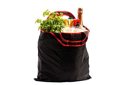 gripOne® Shopper Red - faltbare Einkaufstasche mit Zuzieh-Beutel, extrem reißfest, ultra leicht und kompakt
