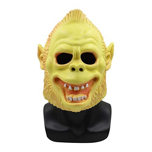 Foroner Beängstigend Tier Orang-Utan Latex Maske mit Haaren Cosplay Helm Halloween Kostüm (Wie Gezeigt)