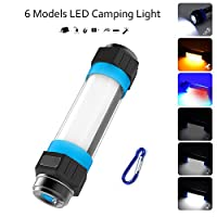 LED Camping Lantern, Multifunctional Lumen Power Bank Camp Light Torch Light, Water Resistant, 6 Modes, Handheld Light Mosquito Rechargeable Light - Camping, Hiking, Emergency, Flashlights