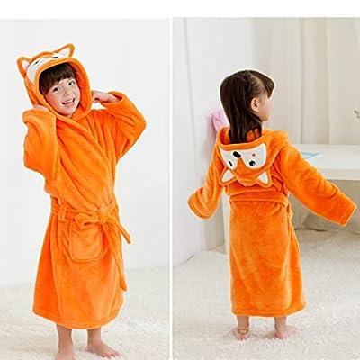 Niños Albornoz Camisón Toalla de Baño Pijamas Baño Cómoda Bata de Baño