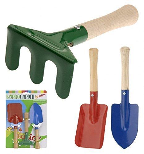 Jardín pala y rastrillo para niños 3 pcs Set