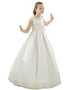 VIPbridal Primera Comunión vestido de raso flor vestidos de novia de las niñas