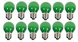 10 x LED Tropfen E27 1W grün Deko Lampe Birne