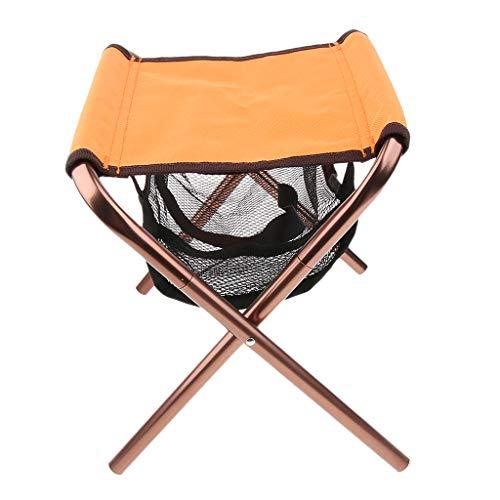Baoblaze Faltbar Hocker Camping klappbarer Fußhocker - Sitzhocker - Klappstuhl mit Netztasche für...