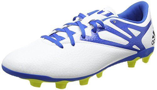 adidas Messi15.4 Fxg, Chaussures de football homme Blanc - Weiß (Ftwr White/Prime Blue S12/Core Black)