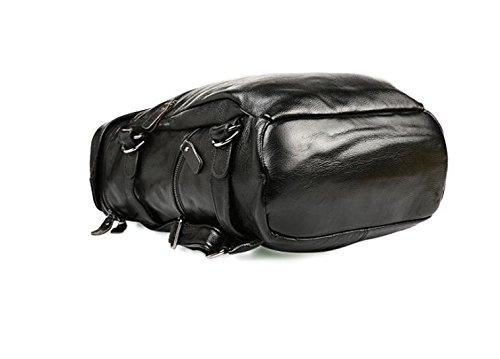 DJB/ Leder Mann Tasche Herren Mode casual Schulter Baotou Doppelschicht Rindsleder Flut Paket Black