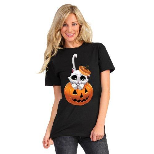 Digital Dudz DDTAKL - Entzückende Kitty bewegend Augen Erwachsenen T-Shirt, L (Entzückendes Shirt)