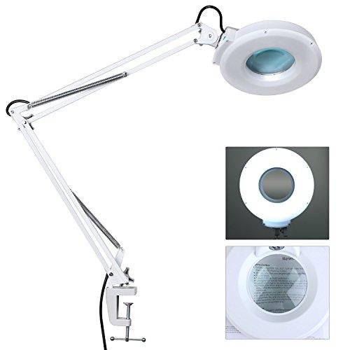MVPOWER Lampe Loupe 22W de Table Esthétique 8 Dioptries Grossissement avec Eclairage Tube Néon Daylight Fluorescent