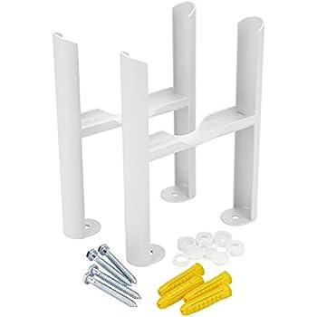 Universal colonne Radiateur Support Pieds Fonte Blanche Traditionnelle hauteur 100 mm