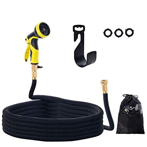 QILICZ 50ft/15m FlexiSchlauch Flexibler Gartenschlauch erweiterbarer Wasserschlauch, Spiralgewebe Schlauch mit 9 Funktion für Bewässerung, Autowäsche, Haus Spülen, PET-Bäder, Reinigung