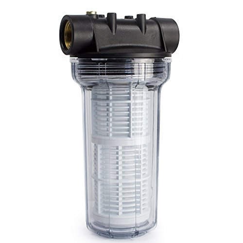 """AWM 2L Vorfilter 3000 l/h Wasserfilter Hauswasserwerk Pumpenfilter max. 4 bar, 1"""" IG Messingbuchsen"""