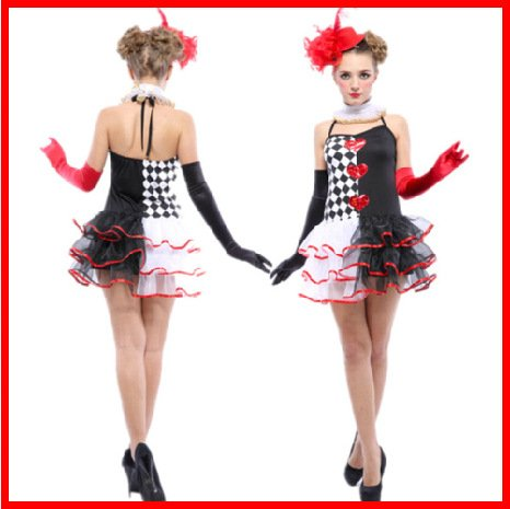 (Gorgeous cosplay Kleid-erwachsene Halloween-Kostüme Clown Kleidung Clown Clown Performances Kleid Geburtstagsparty)