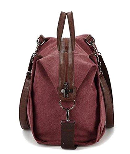 Auspicious beginning Occident schalenartig mit Niet hoher Kapazität Mode lila Umhängetasche Handtasche Lila