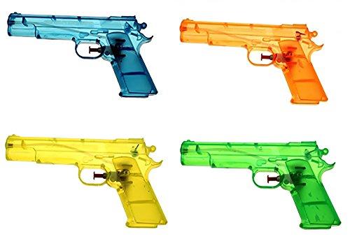 6 x Wasserpistolen Wasserpistole Spritzpistolen 20 cm transparent Klassiker