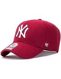 Gorra curva rojo oscuro snapback de New York Yankees MLB MVP de 47 Brand