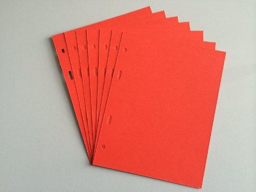 Preisvergleich Produktbild 10 Stück Papierzwischenlagen Zwischenlagen aus Papier Zwischenlage für SCHULZ Münzalbum ROT