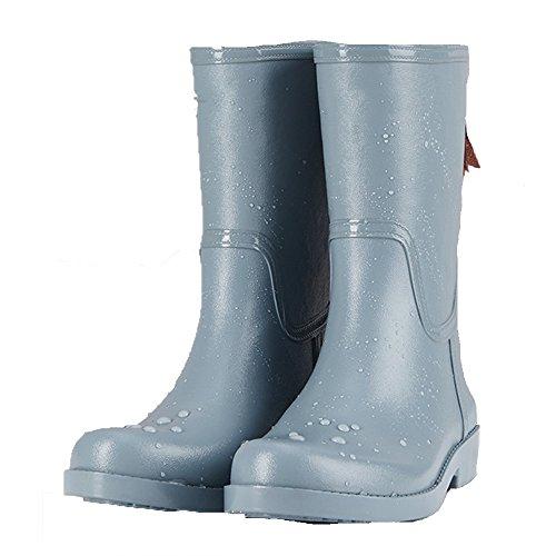 QIN&X Fond épais femmes talon haut Bloc Bottillons courts chaussures grande taille, marron, 42