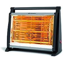 Orbegozo BP 0402 - Estufa de cuarzo con 3 niveles de potencia, 1500 W, 3 barras de calefacción y diseño en color negro