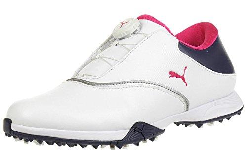 Puma Golf PG Blaze Disc Damen Golfschuhe Frauen Sportschuhe weiß dunkelblau rosa Größe 41
