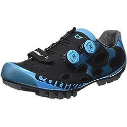 Catlike Whisper MTB 2016, Zapatillas de Ciclismo de Montaña Unisex Adulto, Negro (Negro/Azul 000), 47 EU