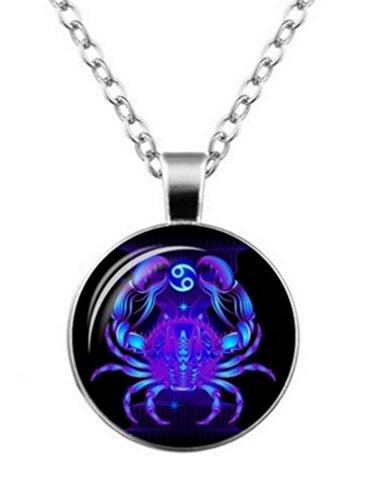 Unbekannt Halskette, anhänger anzeichen für die Tierkreis Constellation Inset. (Krebs)