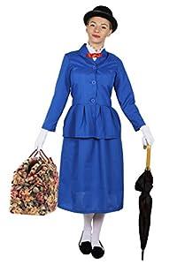 I Love Fancy Dress. ilfd4043X S Ladies mágico Victorian Disfraces de Nanny (XS)