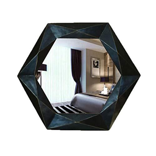 GXFC Hexagon Wandbehang Spiegel Modernes Dekor Spiegel FRP-Rahmen für Apartment Wohnzimmer Schlafzimmer Schlafsaal Eingänge -