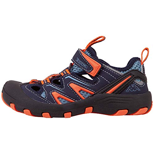 Kappa Unisex-Kinder Reminder Kids Sneaker, Blau (Navy/Orange 6744), 27 EU