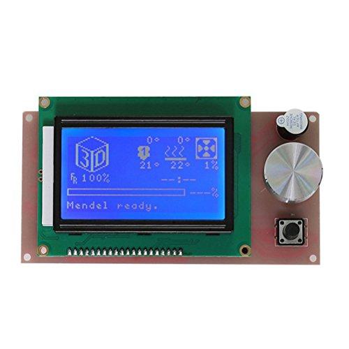 UEETEK LCD 12864 Intelligent Anzeigen Bildschirm Regler Modul mit Kabel für RAMPS 3D Printer Kit Zubehör (Druck-kit)