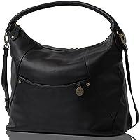 PacaPod Jasper Designer Black Leather Baby Changing Bag - Luxury 3 in 1 Organising System