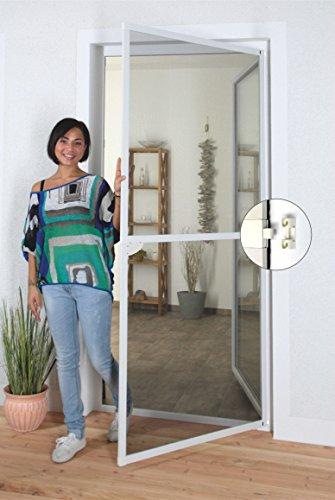1PLUS Insektenschutz Alu Spannrahmen System premium für Türen, in verschiedenen Größen und Farben verfügbar (120 x 240 cm, Weiß)