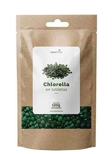 Chlorella Ecológica 300 tabletas para 100 días Carefood   100% Ecológica de pared celular...