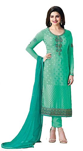 DS Fabrics Women's 3 Piece Unstitched Party Wear Bollywood Style Designer Festive...
