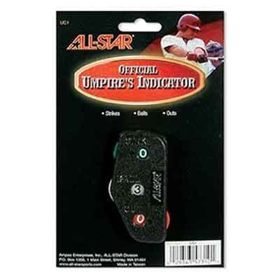 Baseball/Softball Umpire Ball/Strike and Outs Plastic Indicator by All-Star