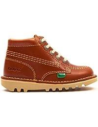 Kickers Kick Hi Infant Dark Tan Leather Ankle Boots