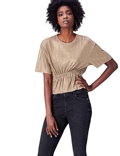 find. 70427A t shirt damen, Gold, 38 (Herstellergröße: Medium)