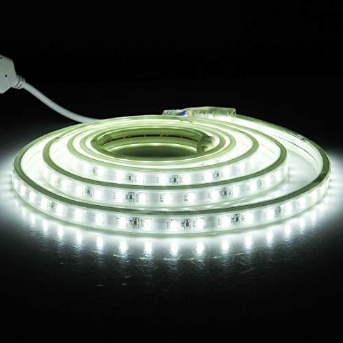 WandaElite Hochwertige 144 LEDs SMD 5730 Gehäuse IP65 wasserdichter LED-Lichtstreifen mit Netzstecker, 72 LED/m, Länge: 2 m, AC 220V Restaurant Bar im Freien Garten Auto Dekoration DIY Mpeg4-decoder