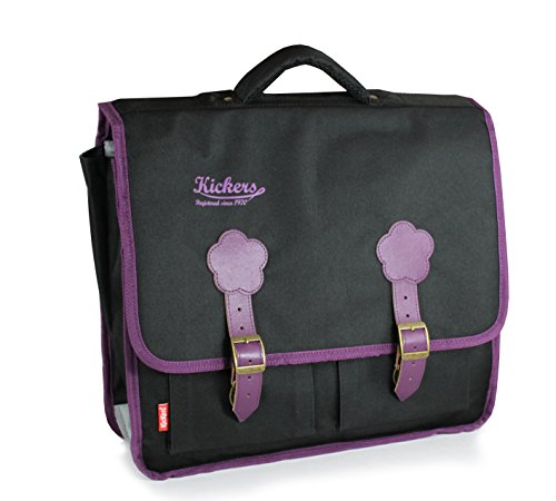 Kickers Cartable 15 L, Noir/Prune